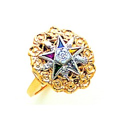 Order of the Eastern Star Masonic Ring - MAS1768ES