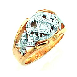 Blue Lodge Masonic Ring - MASCJ802GLC