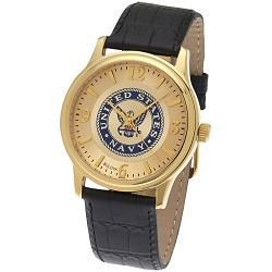 United States Navy Military Leather Watch - NV510