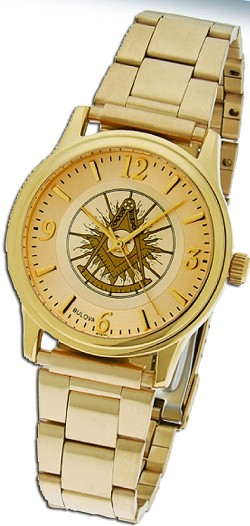 Bulova Past Master Gold Fold Over Watch MSW110B