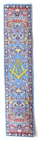 "Square & Compass Blue Masonic Bookmark - [7"" x 2""]"