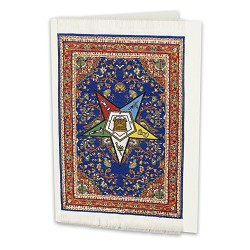 Order of the Eastern Star Mini Carpet Tapestry Masonic Gift Card