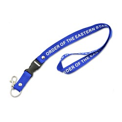 Order of the Eastern Star Masonic Lanyard - [Blue & White][20 1/2'' Long]