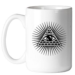 All Seeing Eye Shining Triangle Masonic Coffee Mug - [11 oz.]