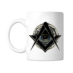All Seeing Eye Masonic Coffee Mug - [11 oz.]