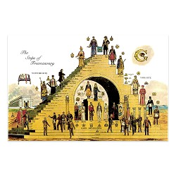 Steps of Freemasonry Masonic Poster - [11'' x 17'']