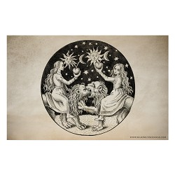 "Conjunction Alchemical Art Poster - [11"" x 17""]"