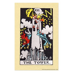 The Tower Tarot Card Poster - [11'' x 17'']