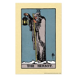 The Hermit Tarot Card Poster - [11'' x 17'']