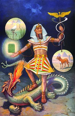 Hermes Standing Upon the Back of Typhon Masonic Poster - [11'' x 17'']