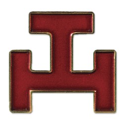 Royal Arch Masonic Lapel Pin - [Red & Gold][1'' Tall]