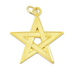 "Excellent Master Star York Rite Masonic Pendant - [Gold][1 1/2"" Tall]"