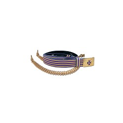 Purple & Gold Leather Belt with Leather Sling or Barrel Chain Options KT470