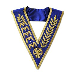 Blue Lodge Wheat Masonic Collar