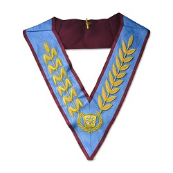 York Rite Mark Masonic Collar