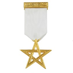 Excellent Master Masonic Breast Jewel - [4'' Tall]