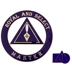 Cryptic Council Royal and Select Master Auto Emblem Lapel Pin Masonic Combo Pack