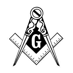 Traditional Square & Compass Masonic Vinyl Decal