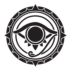 All Seeing Eye Round Masonic Vinyl Decal