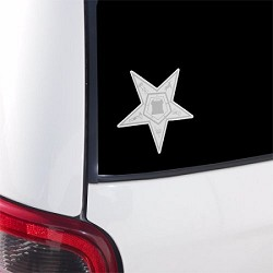 Order of the Eastern Star Masonic Bumper Sticker - [3'' Tall]