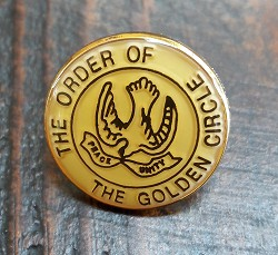 The Order of the Golden Circle Lapel Pin - 3/4'' Diameter