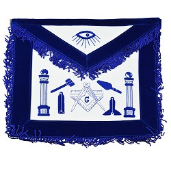 Master Mason Working Tools Apron w/ Velvet Ribbon