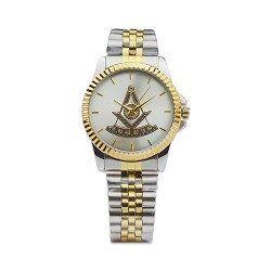 Past Master Fold Over Masonic Wrist Watch - [Gold & Silver]