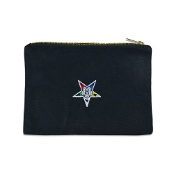 Order of the Eastern Star Canvas Black Accessory Bag