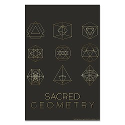 "Sacred Geometry Poster - 11"" x 17"""