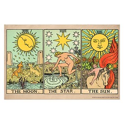 "The Moon, Star, and Sun Tarot Cards Poster - 11"" x 17"""