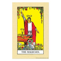 "The Magician Tarot Card Poster - 11"" x 17"""