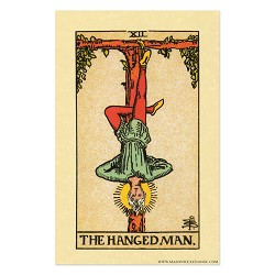 "The Hanged Man Tarot Card Poster - 11"" x 17"""