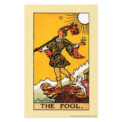 "The Fool Tarot Card Poster - 11"" x 17"""