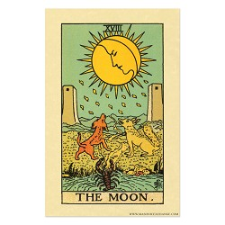 "The Moon Tarot Card Poster - 11"" x 17"""
