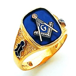 Blue Lodge Ring HOM540BL