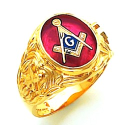Blue Lodge Ring HOM705BL