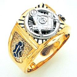 Blue Lodge Ring MAS1695BL