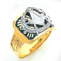 Blue Lodge Ring MAS1697BL
