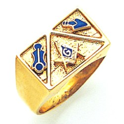 Blue Lodge Ring MAS2237BL