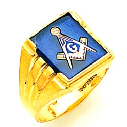 Blue Lodge Ring MAS2271BL