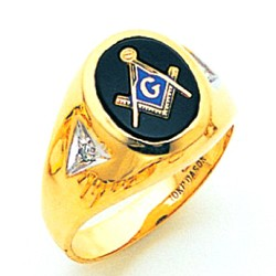 Blue Lodge Ring MAS72057BL