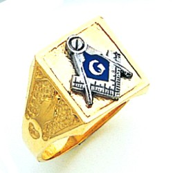 Blue Lodge Ring MAS749BL