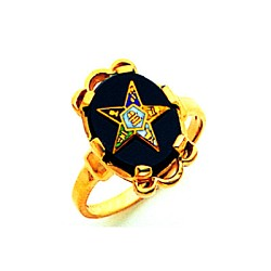 Order of the Eastern Star Ring Onyx MAS57359