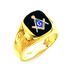 Gold Plated Blue Lodge Ring MASCJ60335