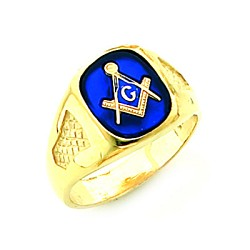Gold Plated Blue Lodge Ring MASCJ60338