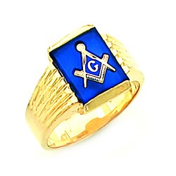 Gold Plated Blue Lodge Ring MASCJ60339