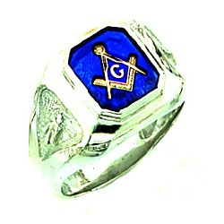 Sterling Silver Blue Lodge Ring MASCJ1155