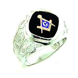 Sterling Silver Blue Lodge Ring MASCJ1159