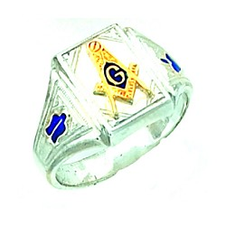 Sterling Silver Blue Lodge Ring MASCJ1698