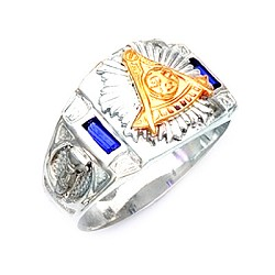Sterling Silver or Gold Vermeil Past Master Ring MASCJ2005PM